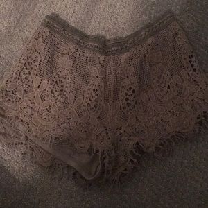 Excellent condition Mossimo crochet shorts